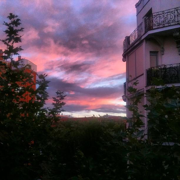 El color del cielo de Madrid en Septiembre