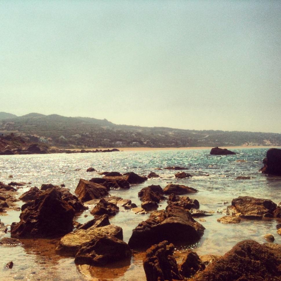 El mar de Cádiz en agosto