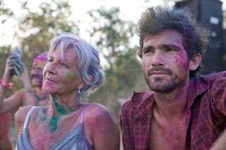 John y Loli en Auroville