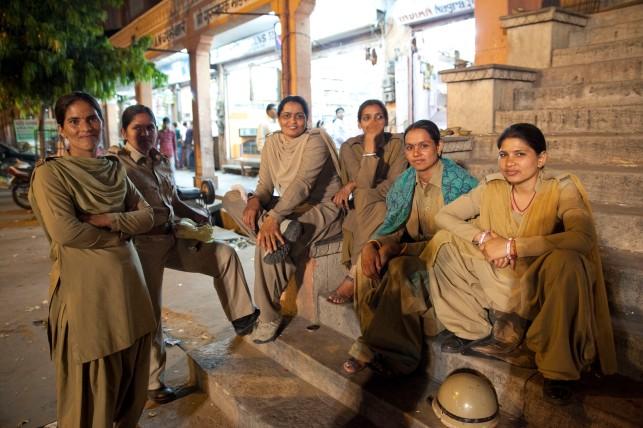 Mujeres policía en Jaipur.