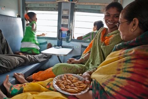 Comidas familiares en el tren